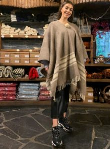 poncho de lana merina