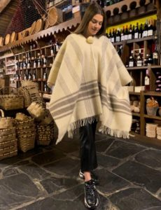 poncho para mujer de lana