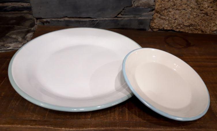 plato vajilla acero vitrificado esmaltado